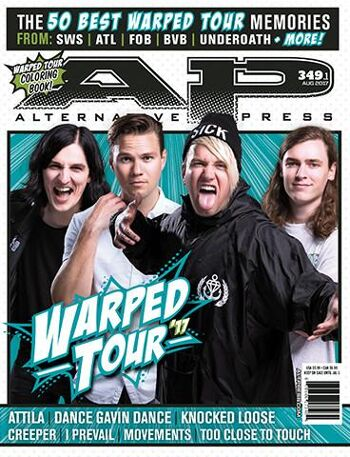ALTERNATIVE PRESS 349.1 Warped Tour Magazine
