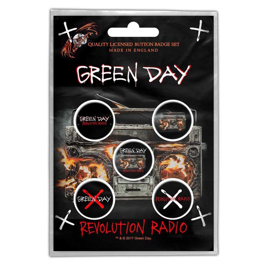 GREENDAY Revolution Badge Set Other