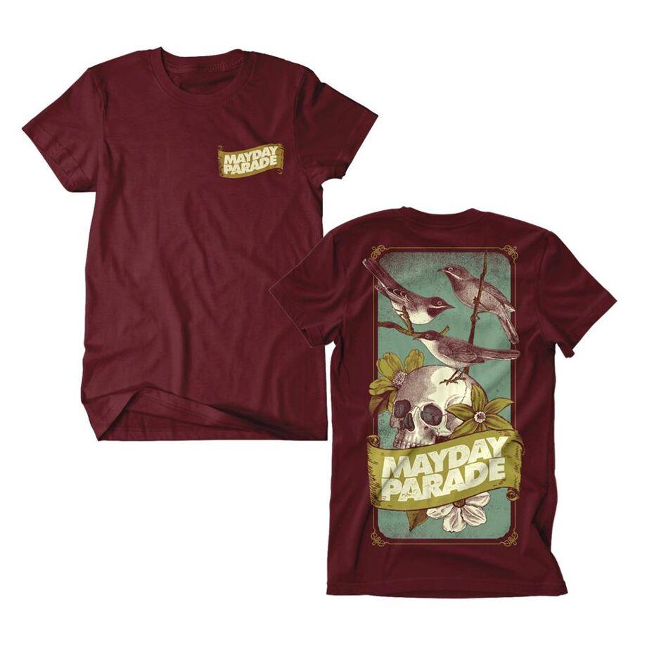 MAYDAY PARADE Skull Birds Tshirt