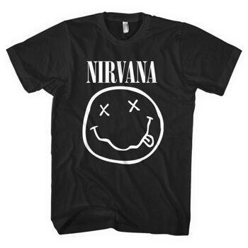 NIRVANA White Smiley Tshirt