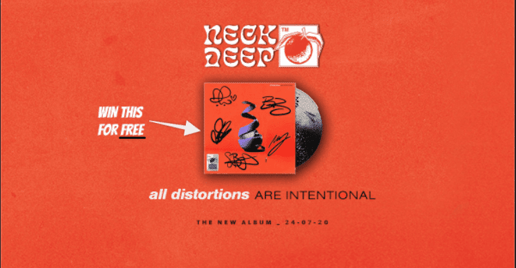 We're giving away a FREE signed Neck Deep CD  ?
