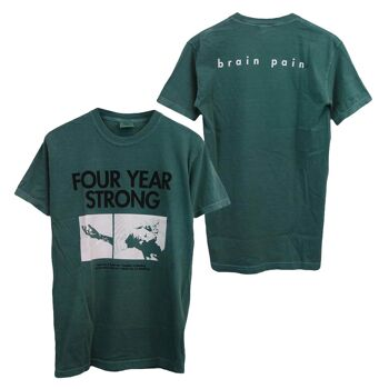 Four Year Strong Brain Pain Green Tshirt