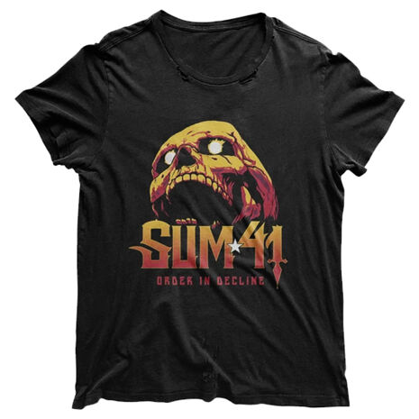 Sum41 Skull Black Distressed Tshirt