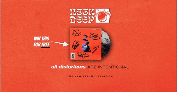 We're giving away a FREE signed Neck Deep CD  🍕