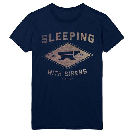 Sleeping With Sirens Anvil Navy Tshirt